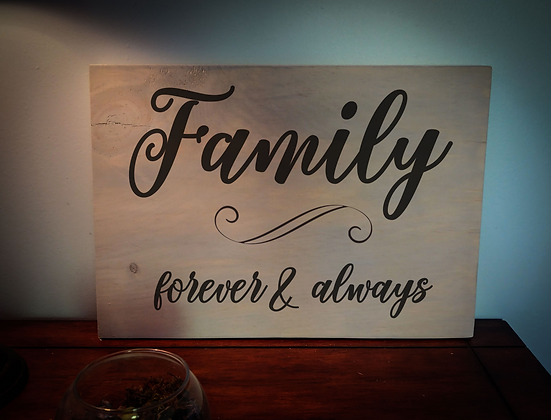 """Rustic Wooden Plank """"Family Forever""""   12""""x16"""""""