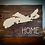 "Thumbnail: Rustic Wooden Sign project ""Home with Map""   18""x 24"""