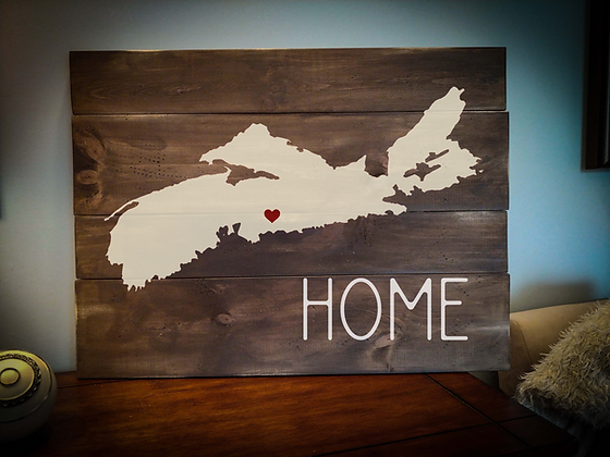 "Rustic Wooden Sign project ""Home with Map""   18""x 24"""