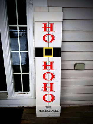 """HOHOHO- Personalize"" Large Porch Sign Project 11x48"