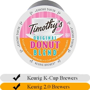 Timothy's Donut Blend K-cups 24ct box