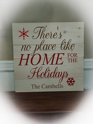 """Rustic Wooden project - """"Home for the Holidays""""23x23"""