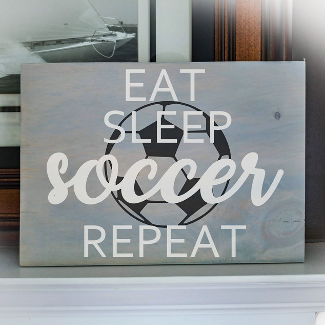 12x16 soccer Rustic Wooden Sign #1216-16