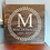 "Thumbnail: Rustic Wooden Sign ""Monogram Wreath"" 23""x23"""