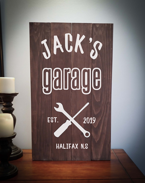 14x24 garage rustic sign
