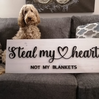 3D sign - steal my heart 11x32  fully finished