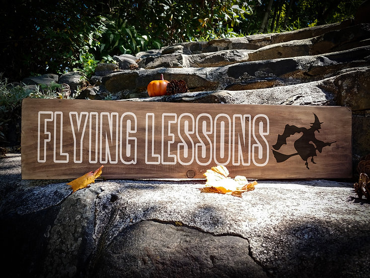 """Wooden Sign Project """"Flying Lessons"""" 6x24"""