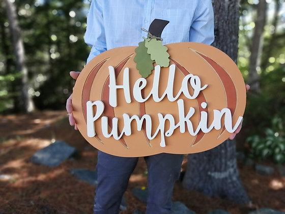 """3D Wooden Sign Project """" Pumpkin Wall Decor """"   19.5x15"""