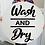 "Thumbnail: 3D wooden sign project ""Wash & Dry"" 23.5"" round"