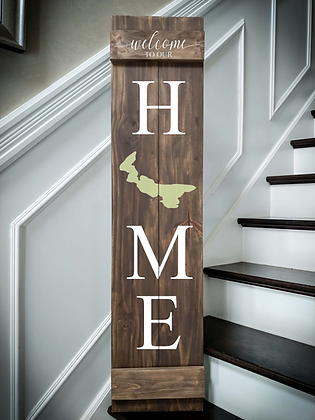 premade porch sign wooden project Home PEI
