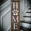 """Thumbnail: Porch sign - """"HOME PAW - Surname"""" 11""""x48""""   fully finished"""