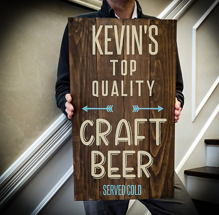 """Rustic Wooden Sign Project """"Craft Beer"""" 14""""x24"""""""