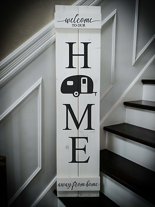 """HOME CAMPER"" Large Porch Sign Project 11""x48"""