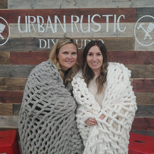 Chunky-knit blanket class! Had a great g