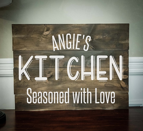 "Rustic Wooden Sign Project ""Kitchen Personal""  18""x 24"""