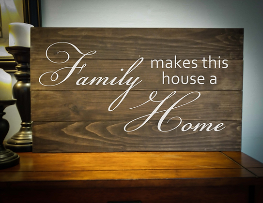 "Rustic Wooden Sign Project""Family / Home"" 14""x24"""