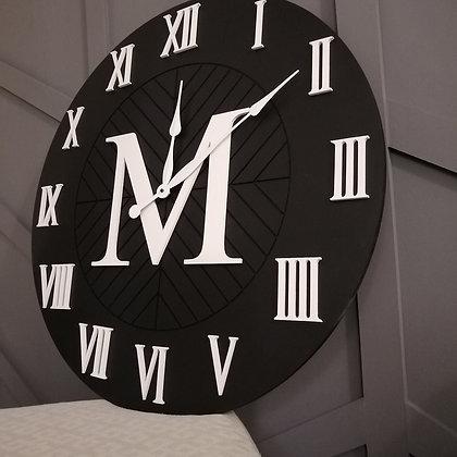 "3D Clock PROJECT - XL Roman Monogram -  30""  round MDF"
