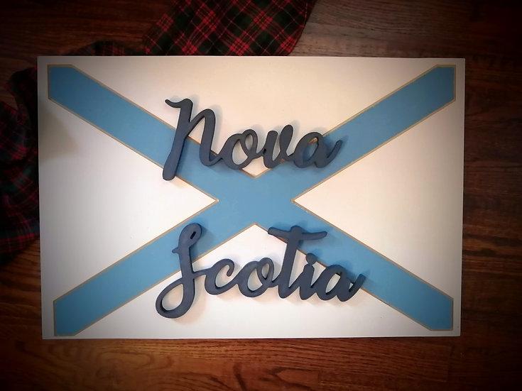 """3D Sign Project """"FLAG / NOVA SCOTIA"""" 16x24 MDF"""