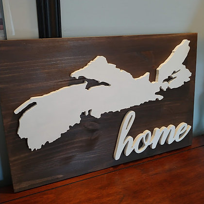"""PREMADE  3D sign - Nova Scotia/ Home -  15""""x24""""   fully finished"""