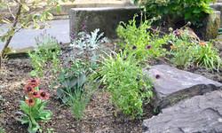 Rock approach garden