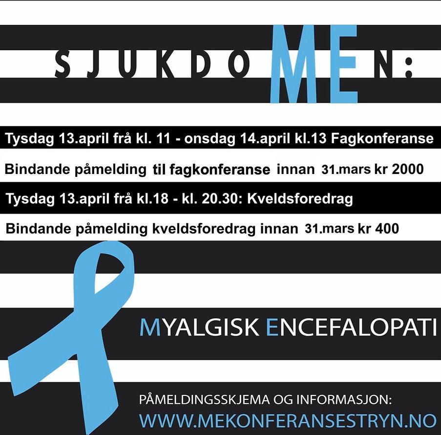 ME-konferanse Stryn 2021 , plakat med sp