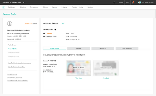 KOR  Bus_Customer  Account Identity Stat