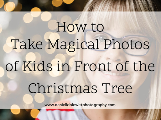 How to Take Magical Photos of Kids in Front of the Christmas Tree