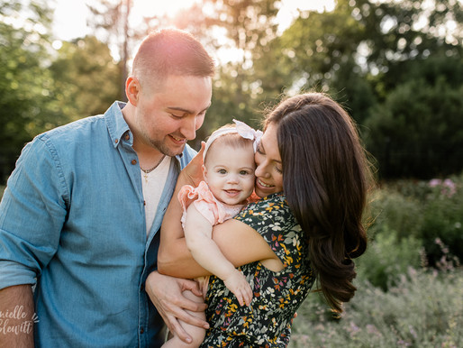 First Birthday Photos at Golden Hour | F Family | Pittsburgh Family Photographer