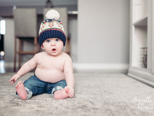 Maxwell Turns 6 Months | Baby Milestone Photos | Pittsburgh Baby Photographer