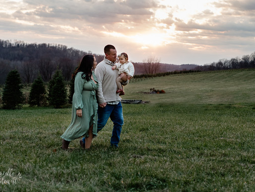Family Photos at Christmas Tree Farm