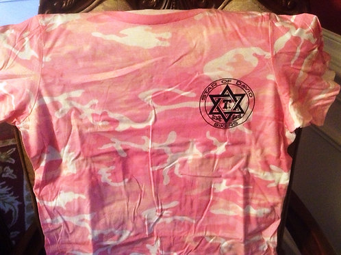 Star of David Bikers Short Sleeve Camo T-Shirt
