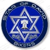 Star of David Bikers Pin