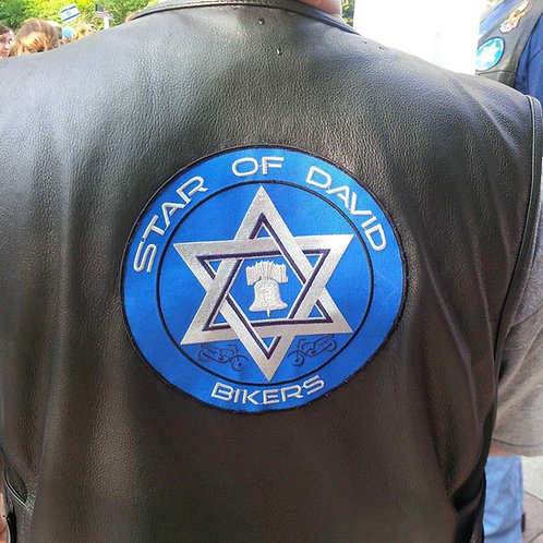 Star of David Bikers Patch