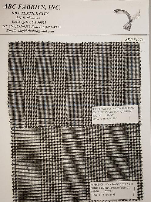 Poly Rayon Spandex Plaid # 1273