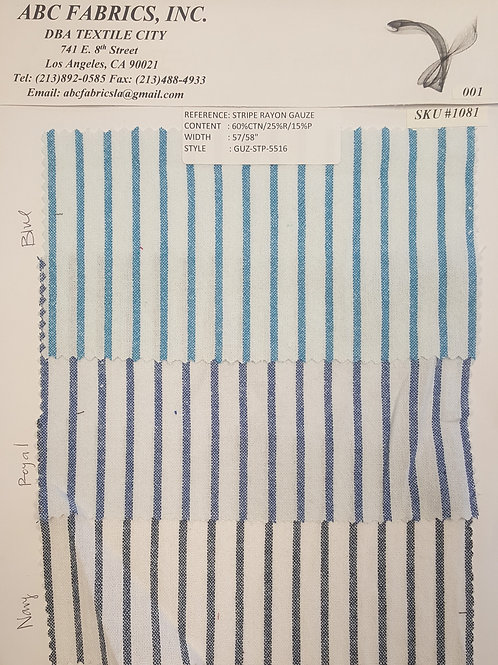 Stripe Rayon Gauze # 1081