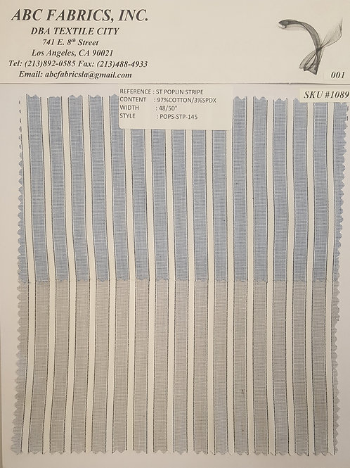 St Poplin Stripe 2 # 1089
