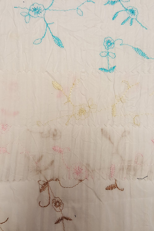 T/C VOILE / EMBROIDERY # 1707