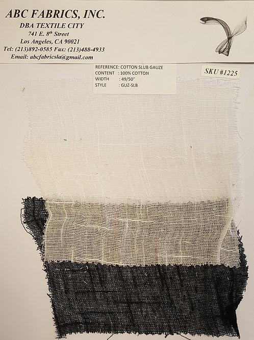 Cotton Slub Gauze # 1225