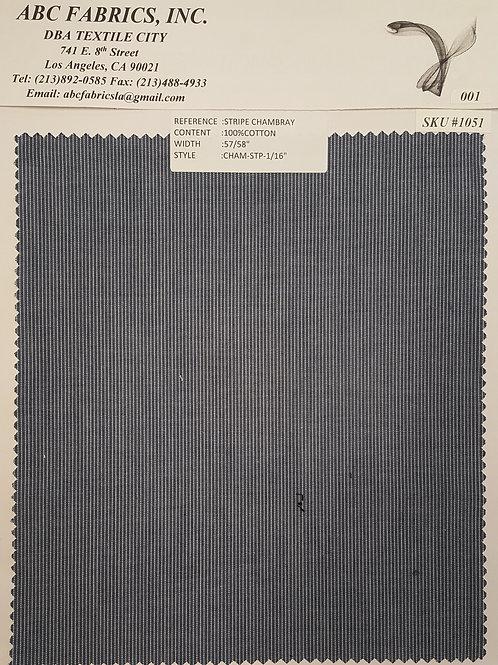 Stripe Chambray # 1051