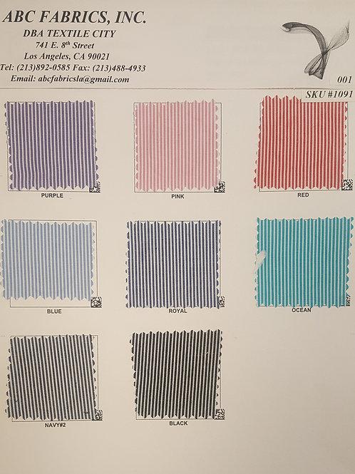 Stripe Poplin # 1091