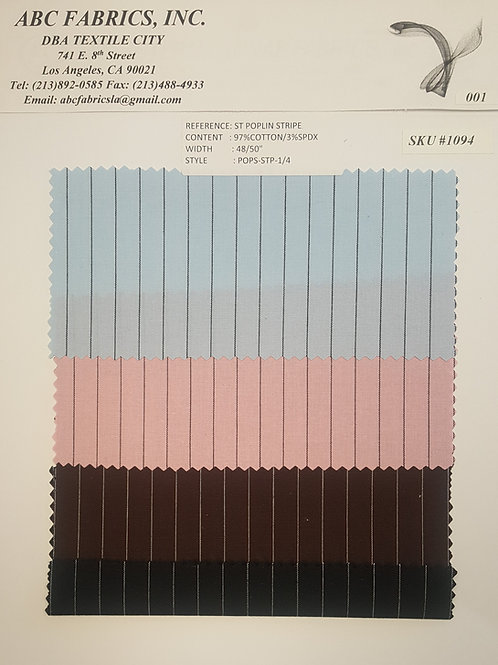 St Poplin Stripe 3 # 1094