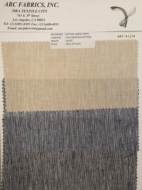 Cotton Linen Stripe # 1218