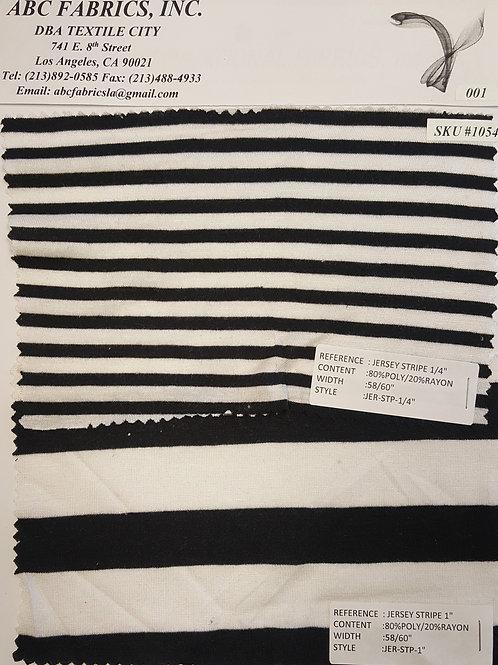 """Jersey Stripe 1/4"""" / Jersey Strip 1"""" # 1054"""