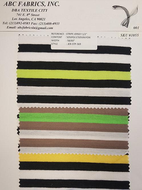 """Stripe Jersey 1/2"""" # 1055"""