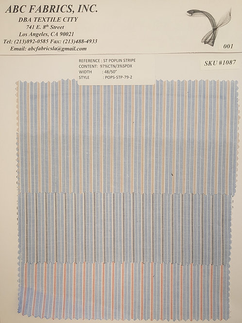 ST Poplin Stripe # 1087