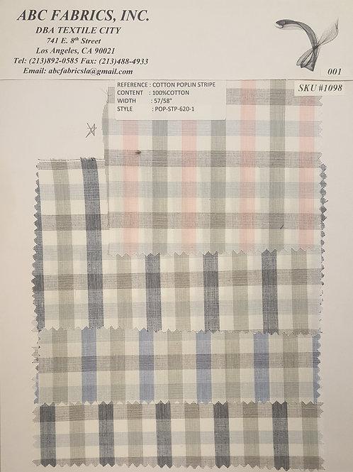 Cotton Poplin Stripe # 1098