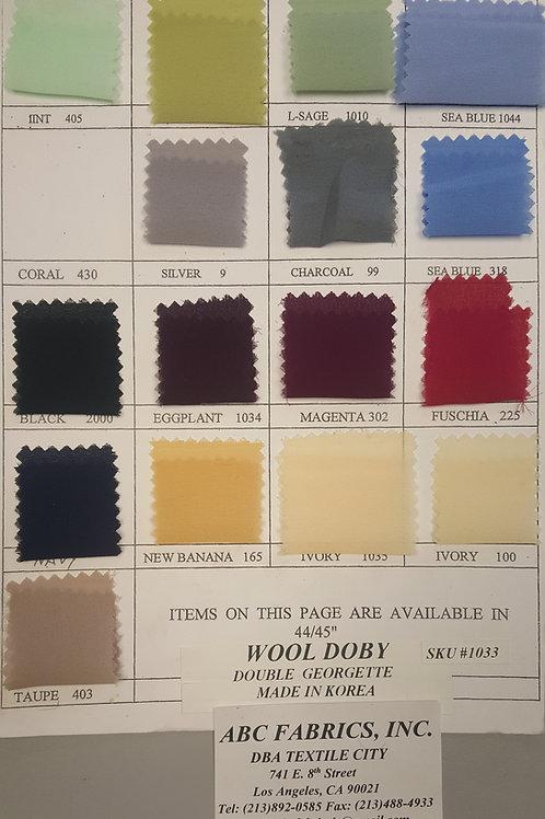 """Wool Doby (Double Georgette) 44"""" # 1033"""
