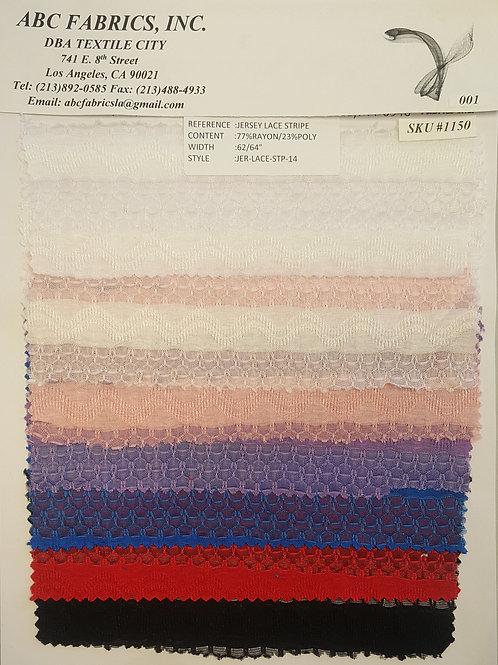 Jersey Lace Stripe # 1150