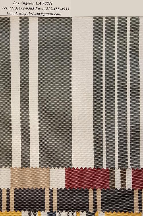 Outdoor Color Stripe 100% Waterproof # 1261