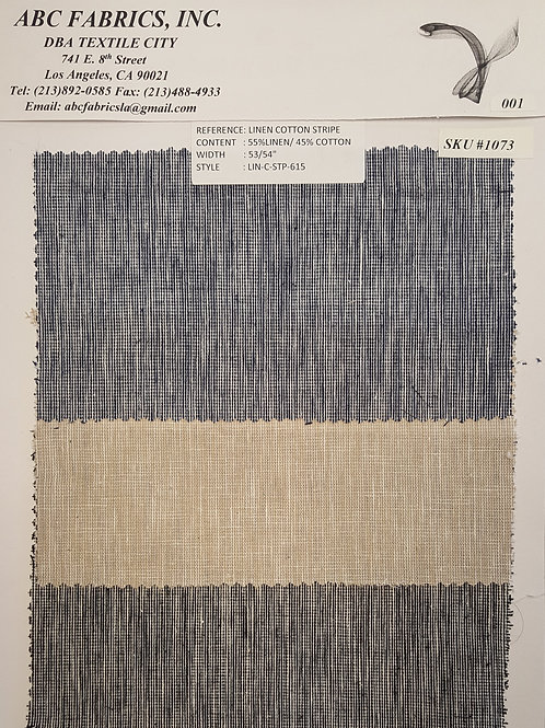 Linen Cotton Stripe # 1073